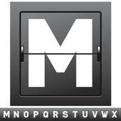 Mechanical scoreboard alphabet — Stock Vector