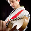 Male with guitar — Stock Photo