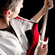 macho com guitarra — Foto Stock