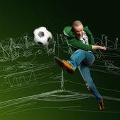 Asiatiska fotbollspelare — Stockfoto