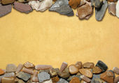Background with stones and old paper 03 — Stock Photo