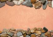 Bakgrund med stenar och gamla papper 04 — Stockfoto