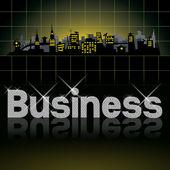 Diamond slovo podnikání — Stock fotografie
