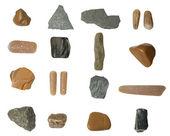 Set of isolated stones — Stock Photo