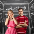 Female in pink and male in red — Stock Photo #5274159