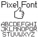 Pixel font — Stock Vector #5274188