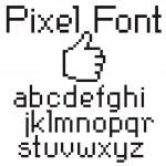 Pixel font — Stock Vector #5274189