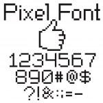 Pixel font — Stock Vector #5274191