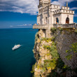 Well-known castle Swallow's Nest near Yalta — Stock Photo #4150938