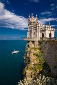 Fairy castle above the sea — Stock Photo