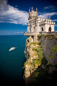 The well-known castle Swallow's Nest near Yalta — Zdjęcie stockowe