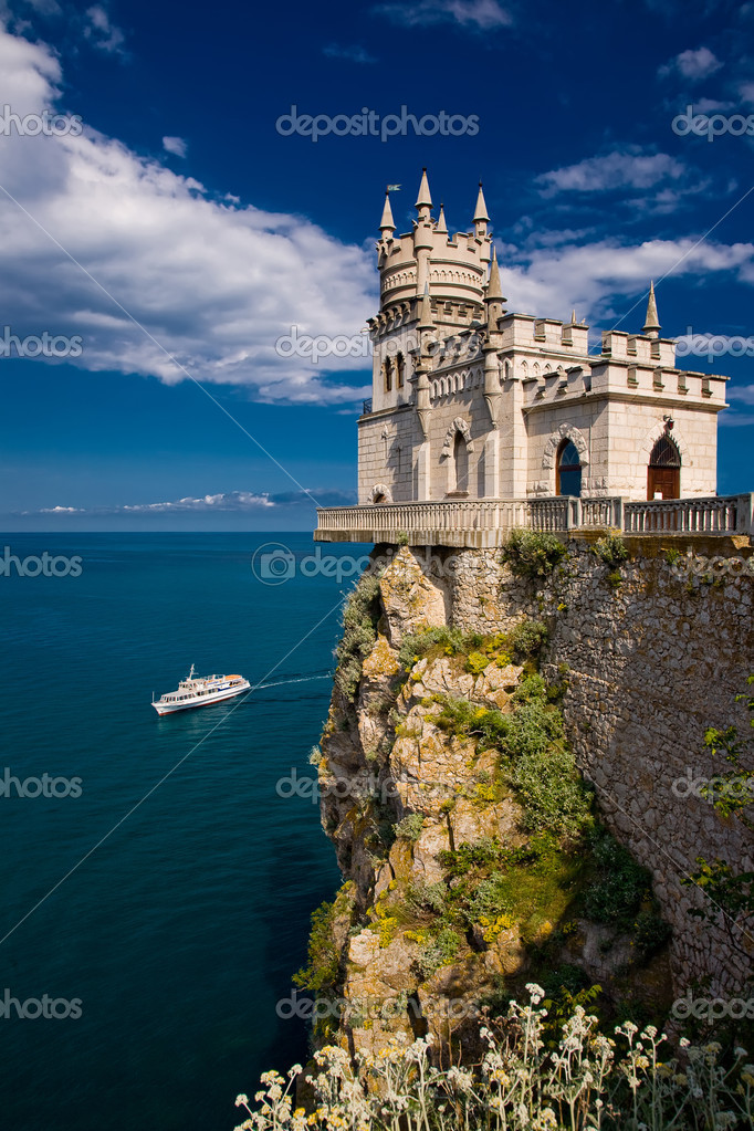 The well-known castle Swallow's Nest near Yalta  Stock Photo #4150923