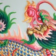 Traditional Thai style church wall art with chines dragon — Stock Photo #4077370
