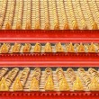 Stock Photo: Roof tiles classic in thailand temple