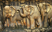 A lot of Elephant Statue — Stock Photo