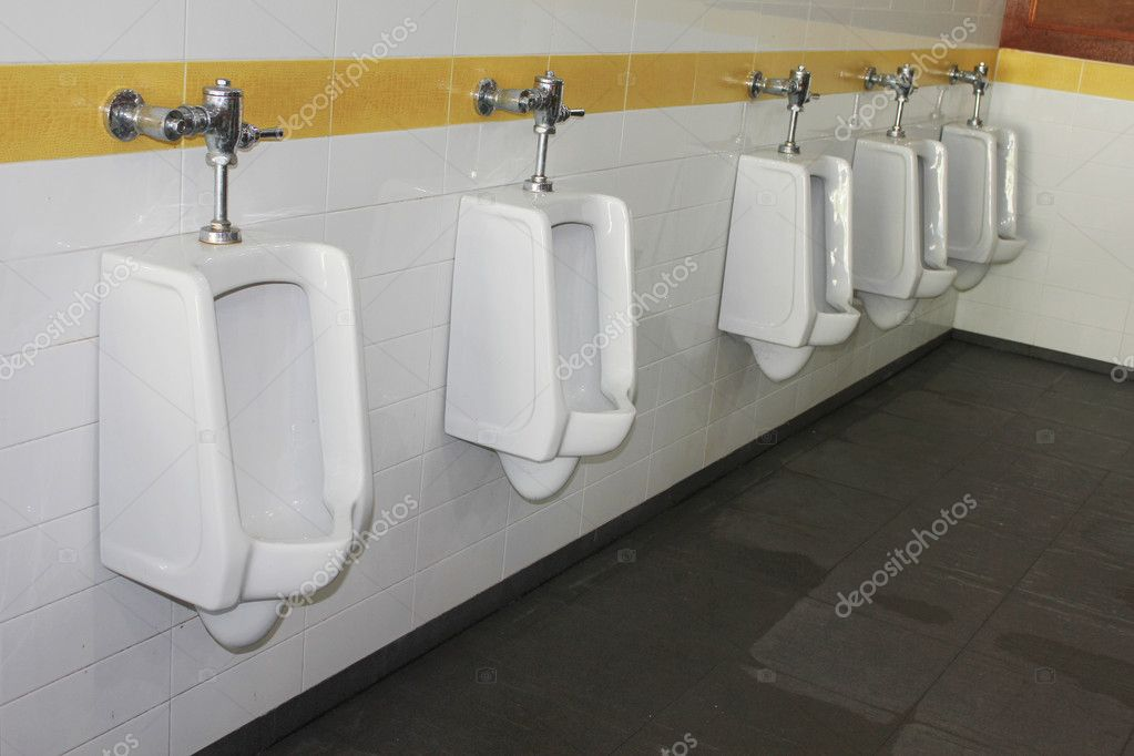 Urinals in public toilet — Stock Photo #5203406