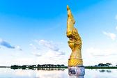 Naga head statue — Stock Photo