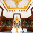 Interior buddhist priest's biography — Stock Photo