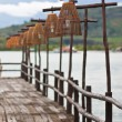 Stock Photo: Wood bridge and birdcage