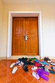 Family's sandal — Stock Photo