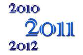 2010 - 2011 - 2012 — Stock Photo