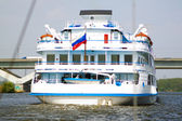 Tourist boat on the river — Stock Photo