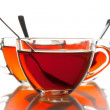 Tea cups and tea — Stockfoto