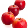 4 red apples — Stockfoto