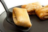 Pannenkoeken met vulling en scoop — Stockfoto