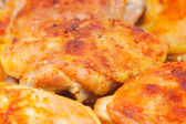 Roasted chiken thighs — Stock Photo