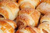 Soubory cookie v podobě malých croissant — Stock fotografie
