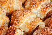 Cookies in de vorm van kleine croissant — Stockfoto