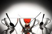 お茶の 4 カップ — ストック写真