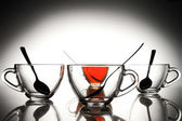 4 tazas de té — Foto de Stock