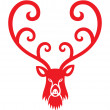 Christmas Reindeer - Stock Vector