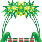 Cornice di testo albero di bambù — Vettoriale Stock