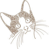 Dotted cat — Vetorial Stock