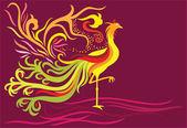 Flying phoenix — Stock Vector