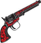 Old western gun — Stock Vector