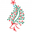 Reindeer Christmas Tree — Vector de stock #4161862