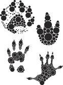 Odbitki stóp zwierząt — Wektor stockowy