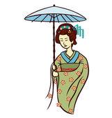 Geisha — Vector de stock