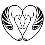 Swan in Love — Stock Vector #4197604