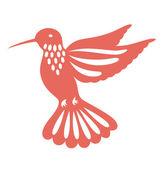 Humming bird flying — Stock Vector