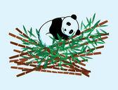 теплый панда — Cтоковый вектор