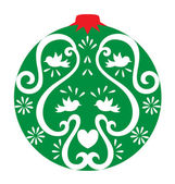 Christmas Ornament Decoration — Stock Vector