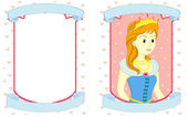 Princess Template — Stock Vector
