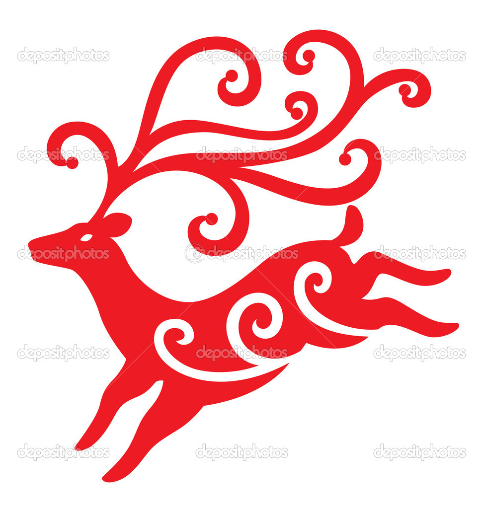 A reindeer illustrated with swirls decoration for Christmas season.  Stock Vector #4206495