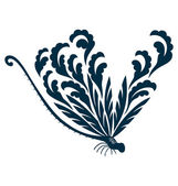 Flor de libélula — Vector de stock