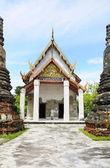 Pagoda, stupa, Buddhist temple, Buddhist monastery, in the templ — Stock Photo